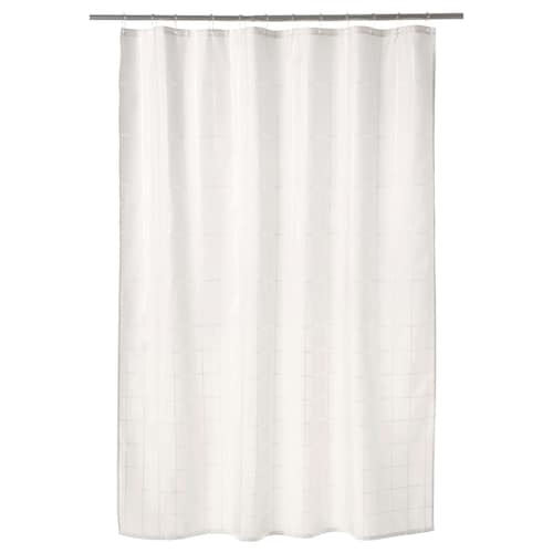 KLOCKAREN shower curtain off-white 115 g/m² 200 cm 180 cm 3.60 m² 115 g/m²