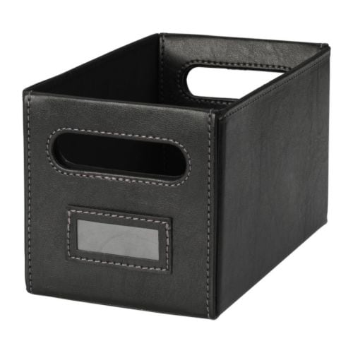 KNÖS Box   This box is perfect for storing your CDs, games, chargers or desk accessories.