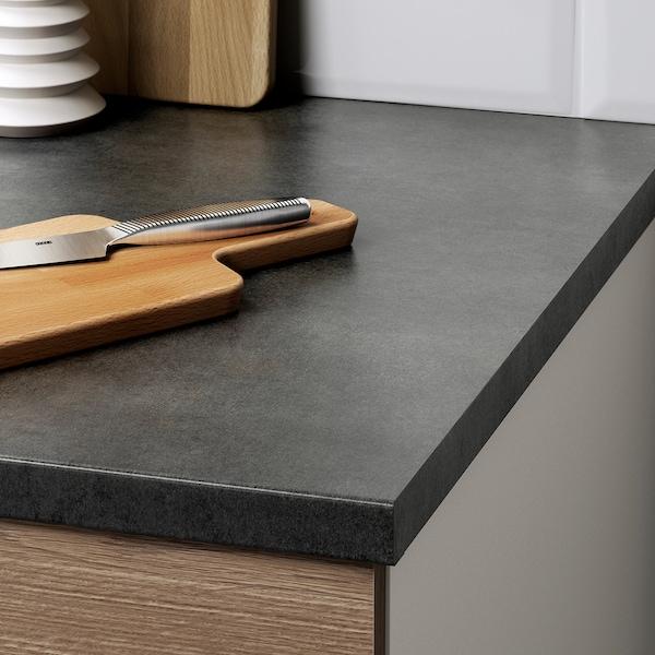 KNOXHULT Kitchen, wood effect grey, 204x61x220 cm