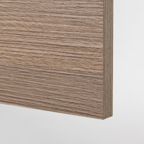 KNOXHULT Wall cabinet with doors, wood effect/grey, 80x75 cm