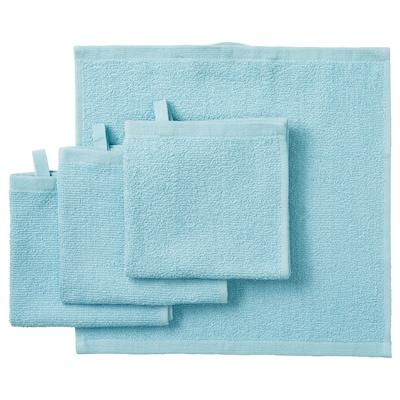 KORNAN Washcloth, light blue, 30x30 cm