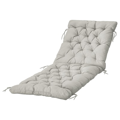 KUDDARNA Sun lounger cushion, grey, 190x60 cm