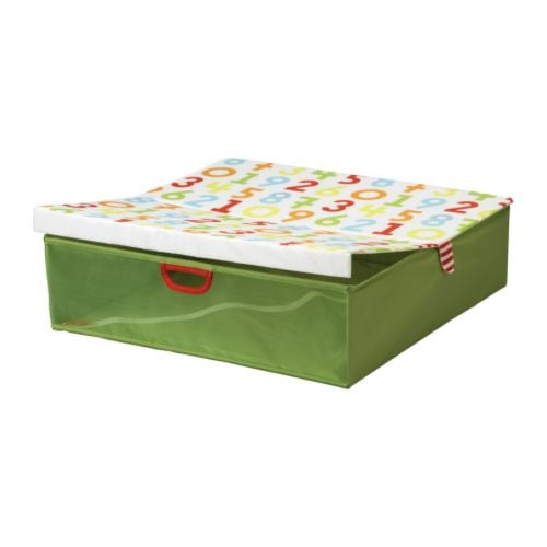 KUSINER Bed storage box   Can be folded to save space when not in use.