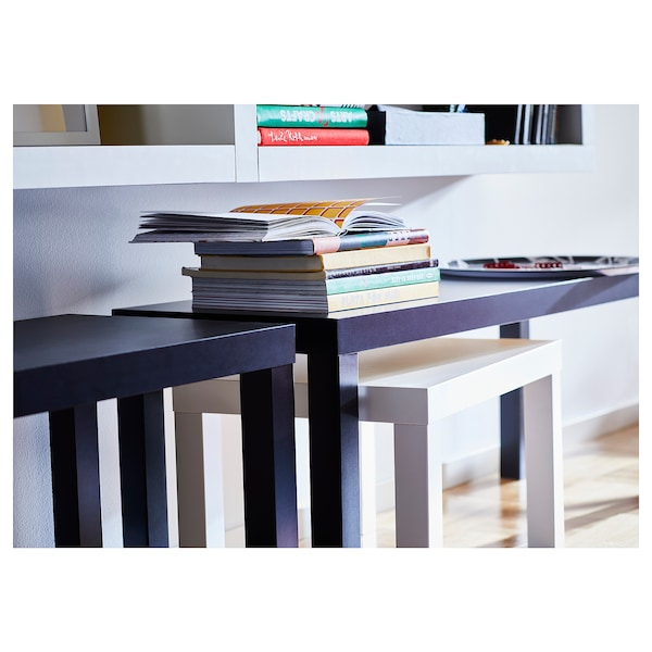 LACK Nest of tables, set of 2, black/white
