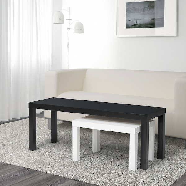 Lack Nest Of Tables Set Of 2 Black White Ikea