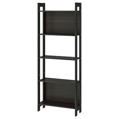 LAIVA Bookcase, black-brown, 62x165 cm