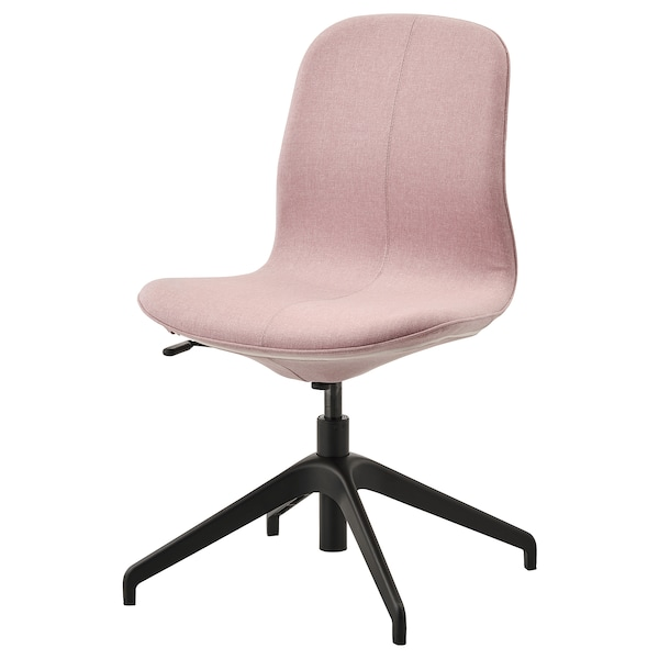 LÅNGFJÄLL Conference chair, Gunnared light brown-pink/black