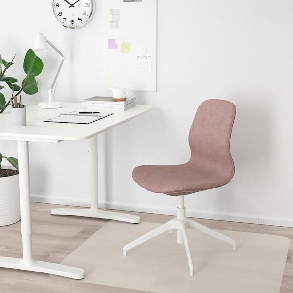 LÅNGFJÄLL Conference chair, Gunnared light brown-pink/white