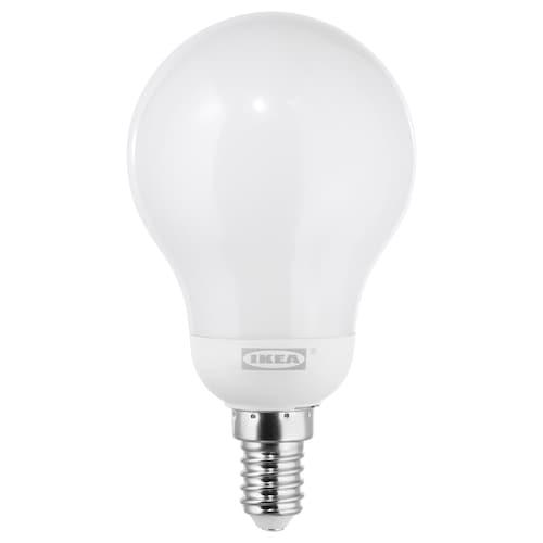 LEDARE LED bulb E14 600 lumen warm dimming/globe opal white 600 lm