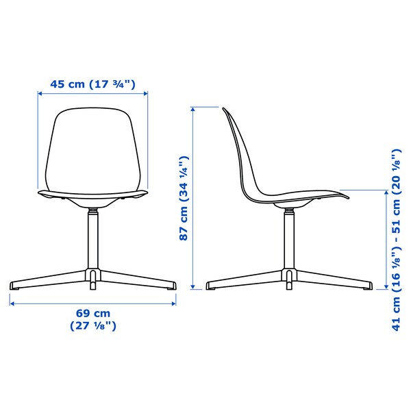 LEIFARNE Swivel chair, white/Balsberget white