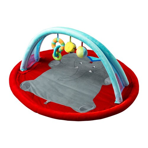 LEKA CIRKUS Baby gym   Movement and sharp contrasts stimulate the baby's eyesight.