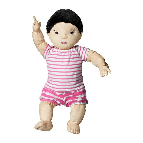 LEKKAMRAT Doll   Encourages role play; children develop social skills by imitating grown-ups and inventing their own roles.