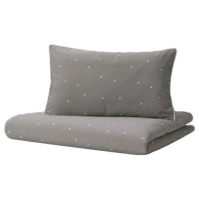 LENAST Quilt cover/pillowcase for cot, dot pattern, 110x125/35x55 cm