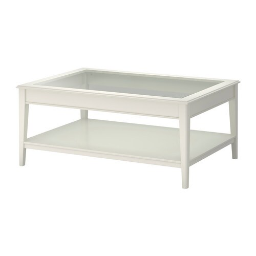 LIATORP Coffee table   Separate shelf for storing magazines, etc.  ; keeps your things organised and the table top clear.