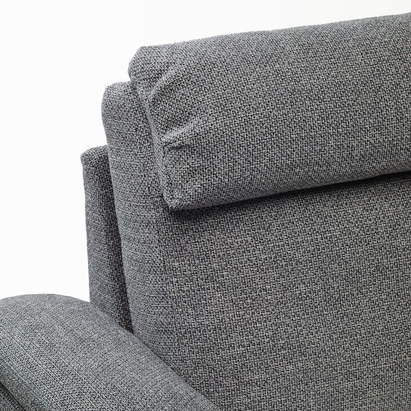 LIDHULT 2-seat sofa, Lejde grey/black