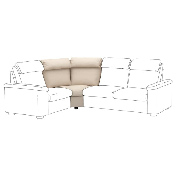 LIDHULT Corner section, Gassebol light beige