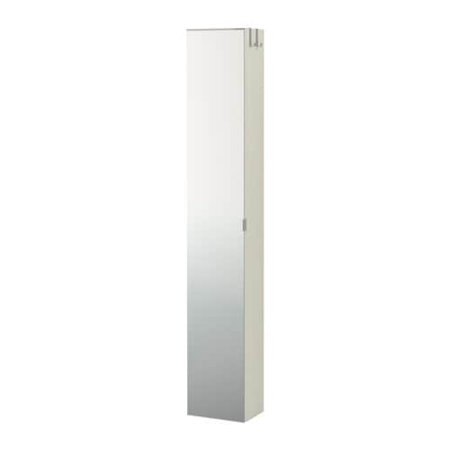LILLÅNGEN High cabinet with mirror door   Perfect where space is limited since the cabinet is shallow.