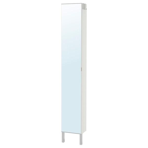LILLÅNGEN High cabinet with mirror door, white, 30x21x194 cm