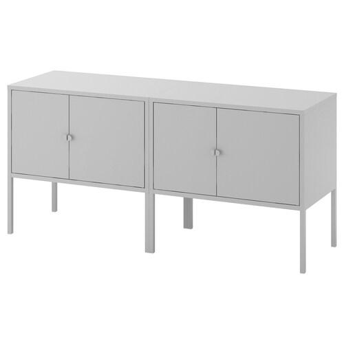 LIXHULT cabinet combination grey 35 cm 57 cm 120 cm 35 cm 57 cm 21 cm