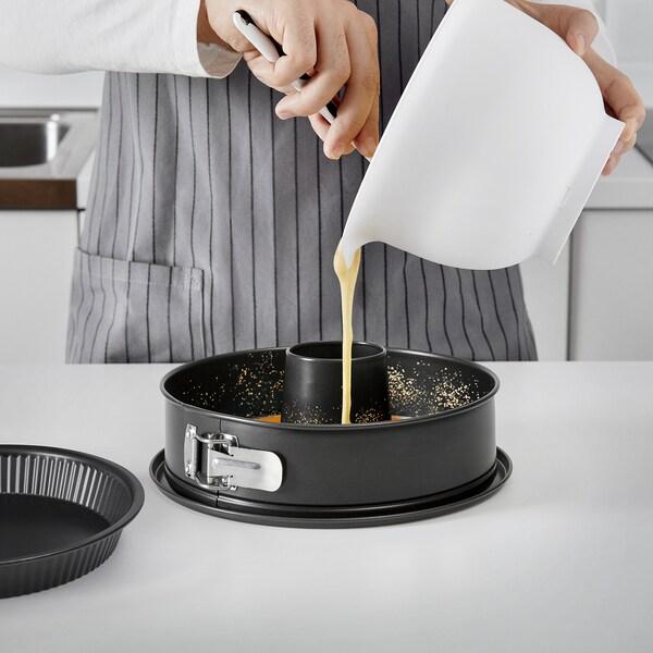 LOCKBETE Loose-base cake tin, black, 26 cm