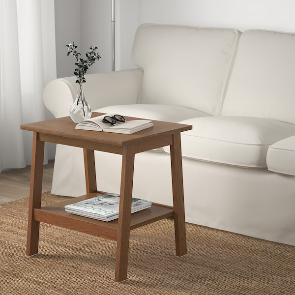 LUNNARP Side table, brown, 55x45 cm