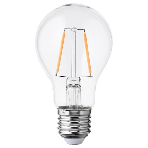 LUNNOM LED bulb E27 100 lumen globe clear glass 2200 K 60 mm 1 W
