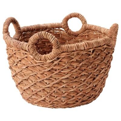 LUSTIGKURRE Basket, brown/nipa palm, 57x57x40 cm