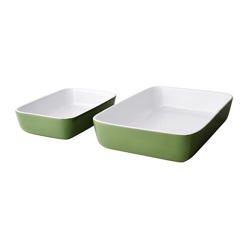 LYCKAD Oven/serving dish set of 2