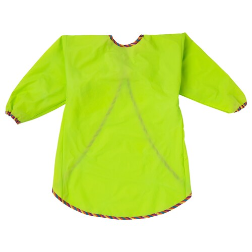 MÅLA apron with long sleeves green 60 cm 106 cm