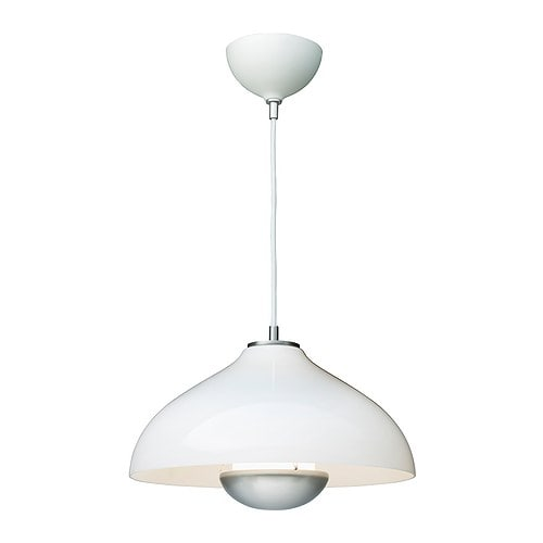 MÅNLJUS Pendant lamp   Adjuster; easy to regulate so the shade hangs straight.  Diffused light; gives a general light.