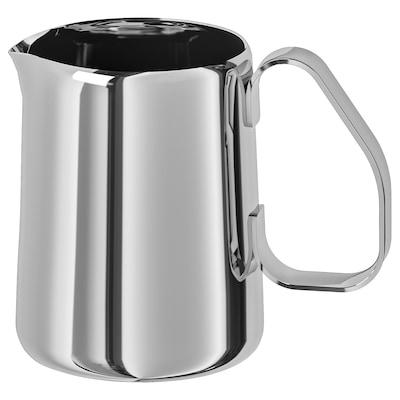 MÅTTLIG Milk-frothing jug, stainless steel, 0.5 l