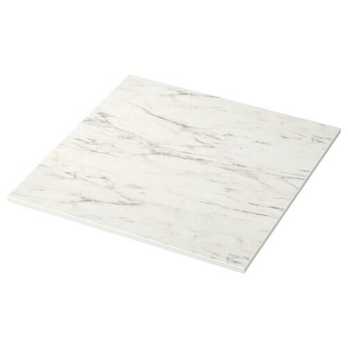 MELLTORP table top white marble 75 cm 75 cm 2.0 cm