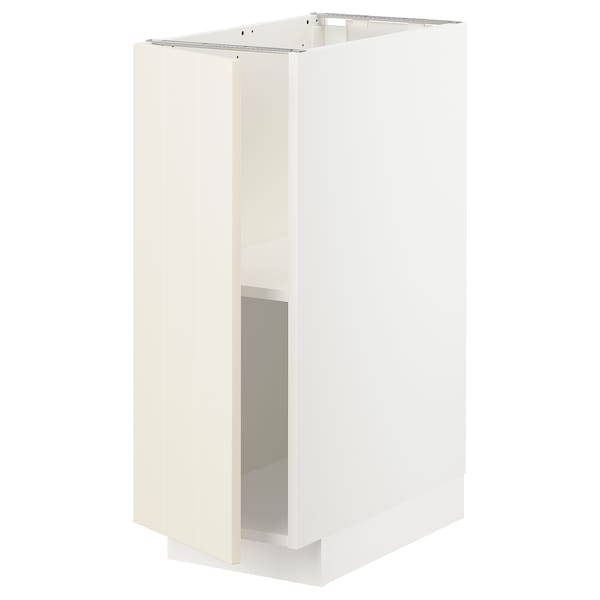 METOD Base cabinet with shelves, white/Hittarp off-white, 30x60x80 cm