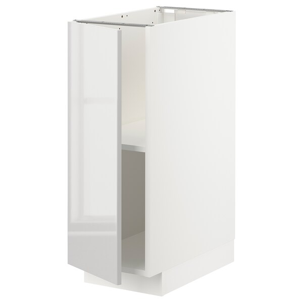 METOD Base cabinet with shelves, white/Ringhult light grey, 30x60x80 cm