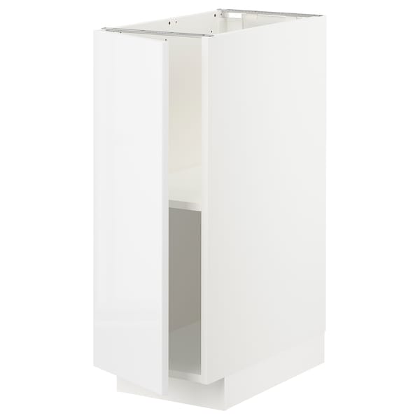 METOD Base cabinet with shelves, white/Ringhult white, 30x60x80 cm