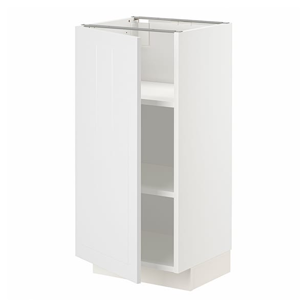 METOD Base cabinet with shelves, white/Stensund white, 40x37x80 cm