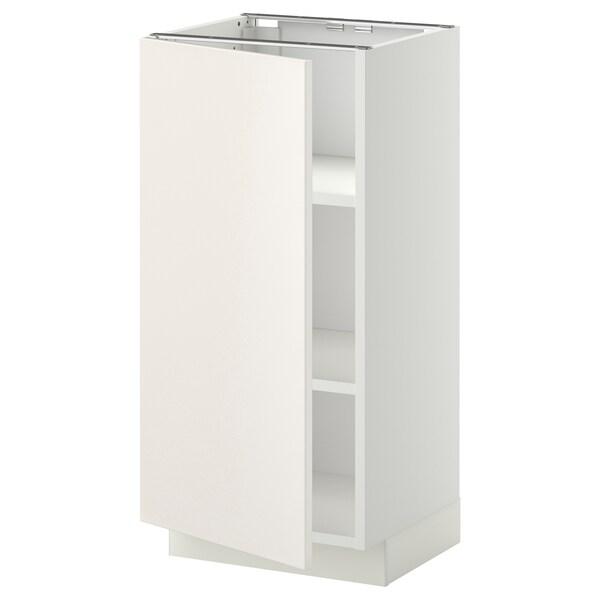 METOD Base cabinet with shelves, white/Veddinge white, 40x37x80 cm
