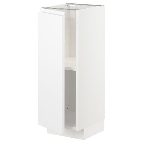 METOD Base cabinet with shelves, white/Voxtorp matt white, 30x37x80 cm