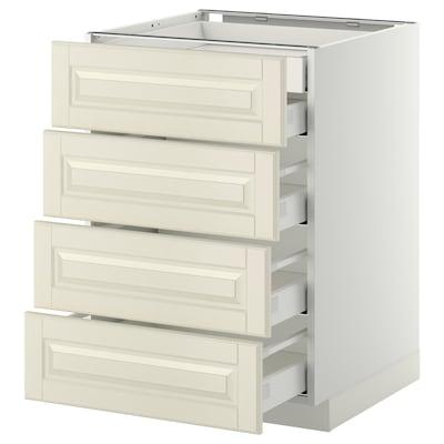 METOD Base cb 4 frnts/2 low/3 md drwrs, white Maximera/Bodbyn off-white, 60x60x80 cm