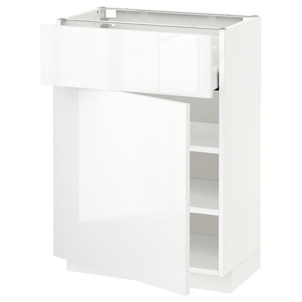 METOD / MAXIMERA Base cabinet with drawer/door, white/Ringhult white, 60x37x80 cm