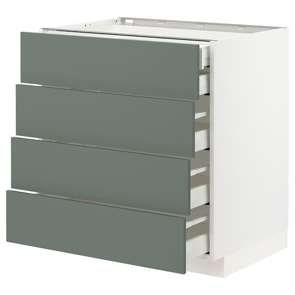 METOD / MAXIMERA Base cb 4 frnts/2 low/3 md drwrs, white/Bodarp grey-green, 80x60x80 cm