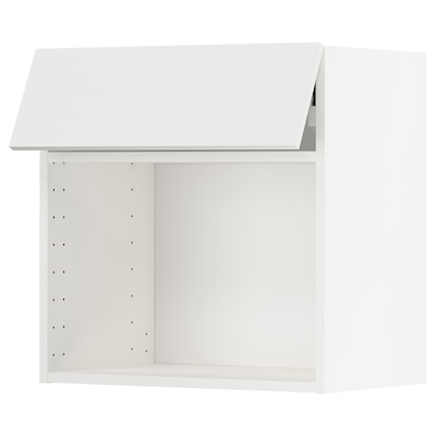 METOD Wall cabinet for microwave oven, white/Häggeby white, 60x37x60 cm