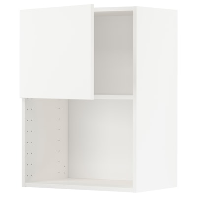 METOD Wall cabinet for microwave oven, white/Veddinge white, 60x37x80 cm