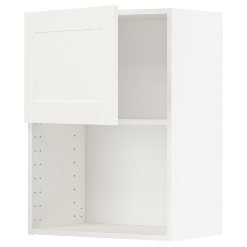 METOD wall cabinet for microwave oven white/Sävedal white 60.0 cm 37 cm 38.8 cm 80.0 cm