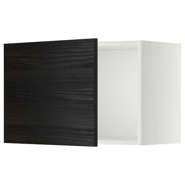 METOD Wall cabinet, white/Tingsryd black, 60x37x40 cm