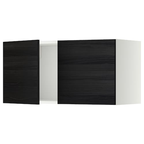 METOD wall cabinet with 2 doors white/Tingsryd black 80.0 cm 37 cm 38.6 cm 40.0 cm