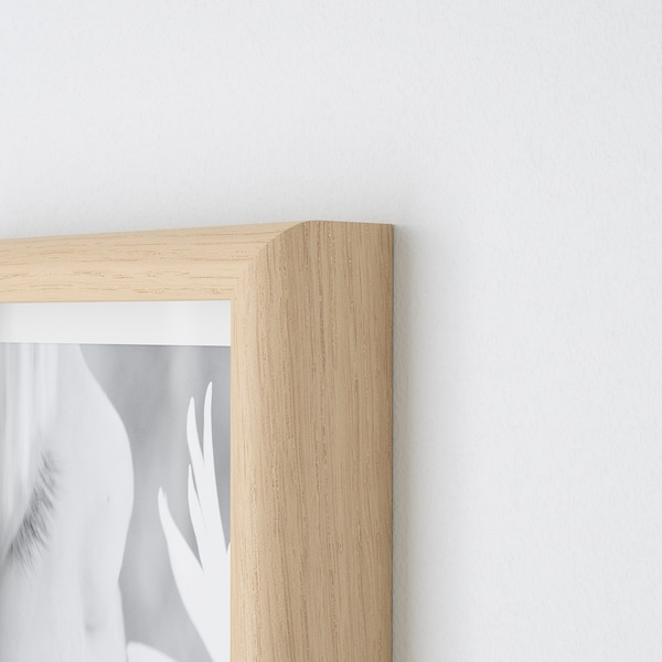 MOSSEBO frame white stained oak effect 40 cm 50 cm 30 cm 40 cm 29 cm 39 cm 42 cm 52 cm