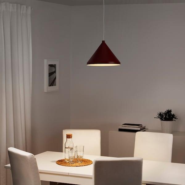 NÄVLINGE Pendant lamp, dark red, 33 cm