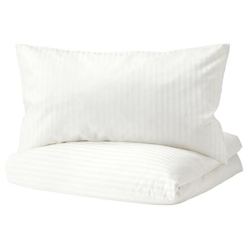 NATTJASMIN quilt cover and 2 pillowcases white 310 /inch² 2 pieces 200 cm 150 cm 50 cm 80 cm