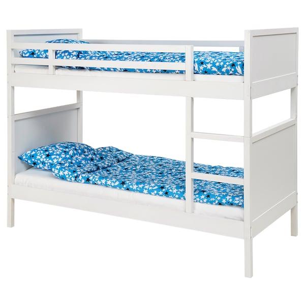 NORDDAL Bunk bed frame, white, 90x200 cm